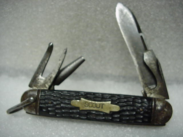 UNION KNIFE WORKS, 4-BLD., CELLULOID, RARE BRAND